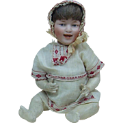 Early Five Piece Heubach Smiling Baby Doll with Heubach Sunburst Mark #5