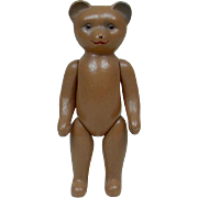 1930's Small Celluloid Teddy Bear with Jointed Legs and Arms