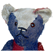 Large 1920's American Teddy Bear with Patriotic Colors