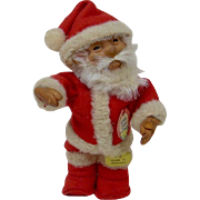 1950's Steiff Rubber Santa with Raised Script Button and Full ID