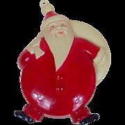 1940's Occupied Japan Celluloid Santa Ornament