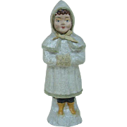 Late 1800's Christmas Snow Baby Child Candy Container