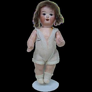 """German 9"""" Heubach Koppeldorf Brunette Baby Doll"""