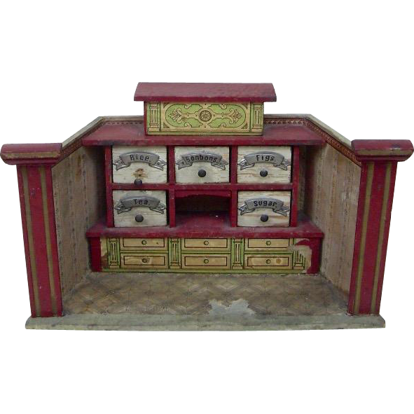 "German 7"" Room Store for Doll House from funcity on Ruby Lane"