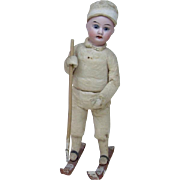 Turn of the Century Cotton Body Christmas Skier Candy Container