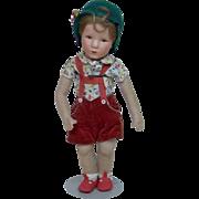 Early 1940's Cloth Kathe Kruse German Boy Doll
