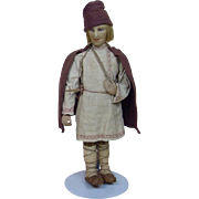 1920's-1930's Village Boy All Original Cloth Russian Doll