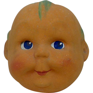 Early Halloween German Large Size Orange Child Veggie Head Lantern