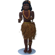 Unusual Rare 1930's English Hawaiian Hula Girl 18.5""