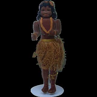 """Unusual Rare 1930's English Hawaiian Hula Girl 18.5"""""""