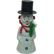 Christmas Snowman Cardboard Candy Container