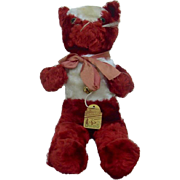 1940's-1950's Synthetic Mohair Red Wartime Plush Gund Cat