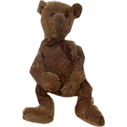 """Early 13"""" Fully Jointed Chocolate Steiff Teddy Bear Sold As Is"""