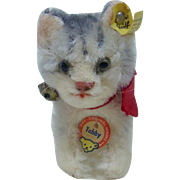 1960's Steiff Tabby with Full ID and Riveted Button in Excellent Condition