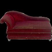 Early Velvet Fainting Couch Vanity Set