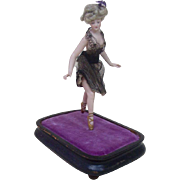 Turn of the Century Large German Gibson Girl Bathing Beauty Figurine