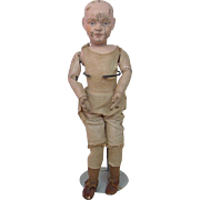 1917 Rare Schoenhut Doll in As Is Condition with Original Schoenhut Doll Shoes