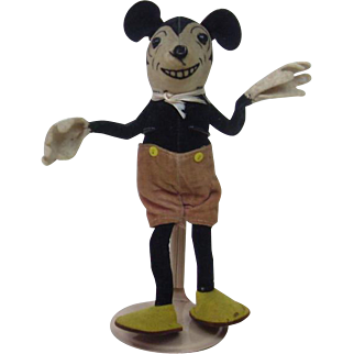 """Dean's Rag Velveteen 8"""" Mickey Mouse"""