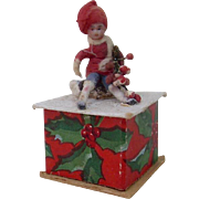 Mini Heubach Christmas Candy Container