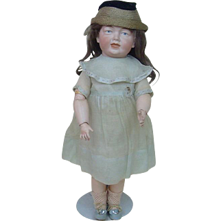 Beautiful Turn of the Century German Character Doll Number 208