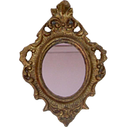 1920's Handmade Italian Gilded Doll House Mirrors