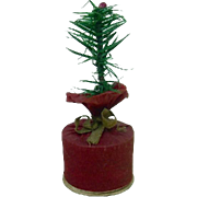 Feather Tree Sprig Christmas Candy Container