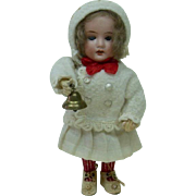 Early 1900's German Snow Girl Christmas Candy Container