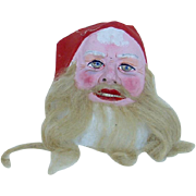 Very Early Santa Mask with Beautiful Paint