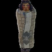 Mary Francis Woods Skookum Native American Smoking a Cigarette