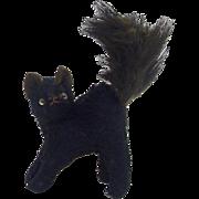 Before 1920's Stuffed Halloween Black Cat
