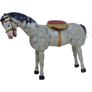 1930's Schoenhut Jointed Circus Horse All Original in Nice Condition