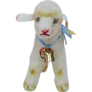 1960's Steiff Wool Lamby Lamb, Full ID in Nice Condition