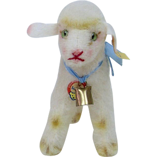 1960's Steiff Wool Lamby Lamb, Full ID in Nice Condition