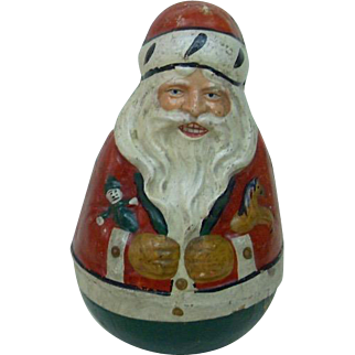 Early 1900's Schoenhut Roly Poly Santa Claus