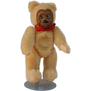 Early Rubber masked face Teddy Bear with Inset Glass eyes and mechanical Tongue ?