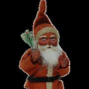 1920 Felt Dressed paper Mache Short-coat Woodcutter Santa Claus