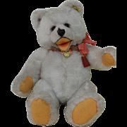 Beautiful White 16 inch Cosy Teddy Bear FAO Schwarz Tag and ID