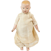 "1913 11"" Schoenhut Jointed Baby Doll Original Clothes"
