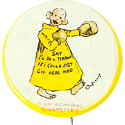 1890s Antique Yellow Kid Comic Pinback 1 1/8""