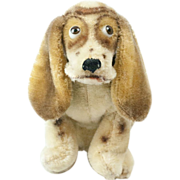 "1961 Steiff Hushpuppies Googly Eyes Basset Hound Dog 5 1/4"""