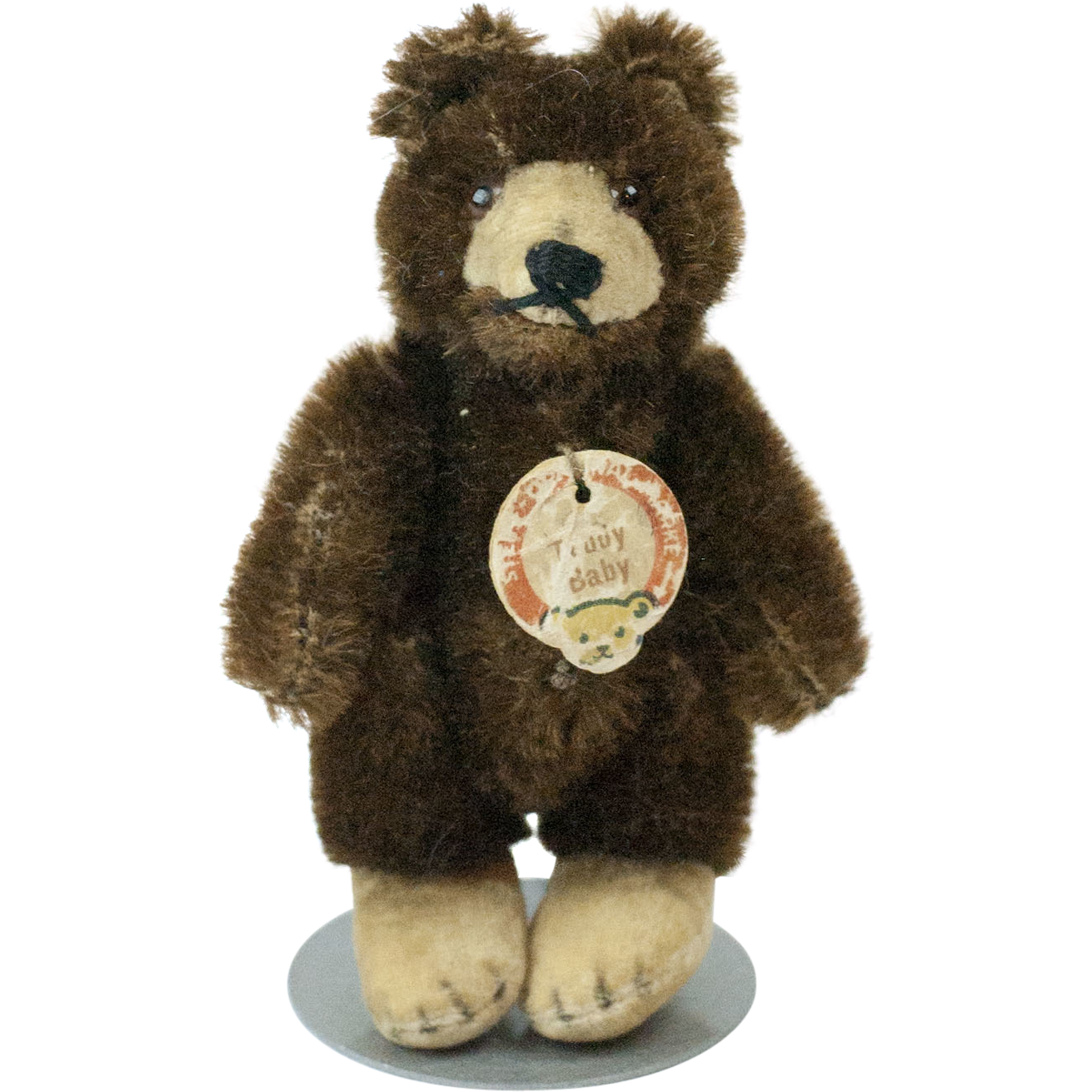1950s German Steiff Chocolate Brown Teddy Baby with ...