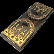 19th Century Brass & Coromandel Gothic Revival Book Slide