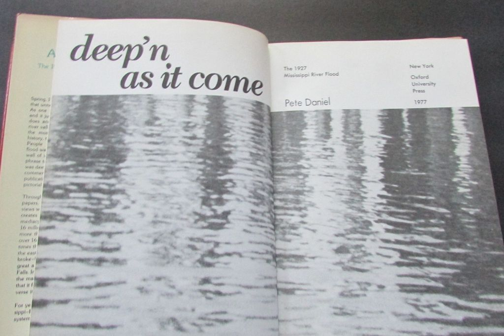 deep n as it come 1927 mississippi Deep'n as it come: the 1927 mississippi river flood by , in the spring and summer of 1927, the mississippi river and its tributaries flooded from cairo, illinois to new orleans, louisiana, and the gulf of mexico, tearing.