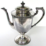 John Alden Silverplate Coffee Pot, Early 1900s