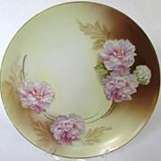 Tillowitz Floral Porcelain Cabinet Plate (1920-40)