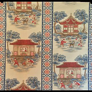 Charming Vintage Chinoiserie Print