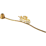 Fetching  Vintage Brass Candle Stuffer