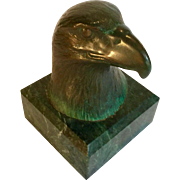 James Siebert Bronze Eagle Sculpture, Signed, Numbered
