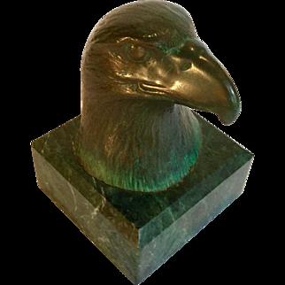 James Siebert Bronze Eagle Sculpture, Signed, Numbered