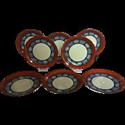 Set of 8 Vintage Japanese Dessert or Salad Plates
